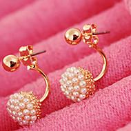 Dame Stangøreringe Brude Mode Perle Imiteret Perle Legering Bold Smykker Bryllup Fest Daglig Kostume smykker