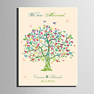 E-HOME® Personalized Fingerprint Painting Canvas Prints -The Color of The Tree (Includes 12 Ink Colors)