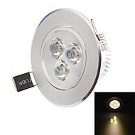 hesion hs02003 3ワット270-330lm 3000K / 6000K導いた温白色/白色シーリングライト - 銀(85〜265V)