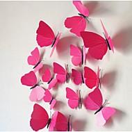 preiswerte -die dreidimensionale Simulation Schmetterling Wandaufkleber (12pcs)