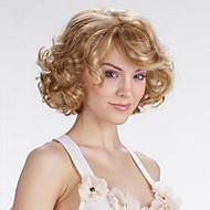 Sintetičke perike Kovrčav / Tijelo Wave Asimetrična frizura Sintentička kosa Pramenovi / Balayage Plavuša Perika Žene Kratko Prirodna