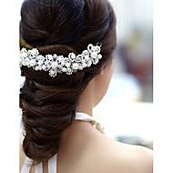 billiga Brudhuvudbonader-Kristall Akrylfiber Tyg Tiaras Blommor 1 Bröllop Speciellt Tillfälle Fest / afton Hårbonad