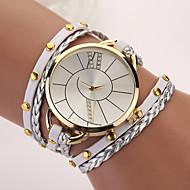 בגדי ריקוד נשים שעוני אופנה שעון צמיד קווארץ פאנק PU להקה בוהמי אלגנטי צבעוני