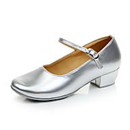 billige Moderne sko-Moderne sko Lær / Syntetisk Høye hæler Snøring / Pels Lav hæl Kan ikke spesialtilpasses Dansesko Rød / Sølv / Gull / Innendørs / Trening