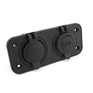 billiga Billaddare för mobilen-Dual USB bilens cigarettändaruttag splitter 12v laddare nätadapter utlopp