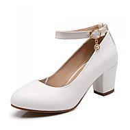 Χαμηλού Κόστους New Styles For Women-Γυναικεία Παπούτσια Δερματίνη Άνοιξη / Καλοκαίρι / Φθινόπωρο Γατίσιο Τακούνι Λευκό / Μαύρο / Ροζ