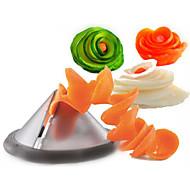 keuken gadgets creatieve plantaardige spiraal snijmachine / wortel spiralizer groente snijder (willekeurige kleur)