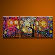 billiga Oljemålningar-HANDMÅLAD Abstrakt Vertikal Duk Hang målad oljemålning Hem-dekoration Tre paneler