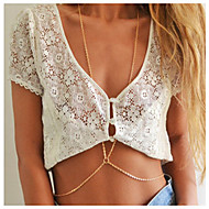 Vücut Mücevheri/Vücut Zinciri / Belly Chain alaşım Others Eşsiz Tasarım Moda Altın 1pc