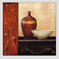 billiga Stilleben-Hang målad oljemålning HANDMÅLAD - Stilleben Europeisk Stil / Moderna Duk