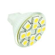 billige Bi-pin lamper med LED-SENCART 1.5 W 3500/6000/6500 lm GU4(MR11) LED-spotpærer MR11 12 leds SMD 5050 Mulighet for demping Dekorativ Varm hvit Kjølig hvit