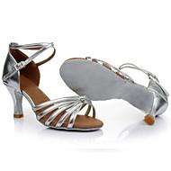 Mujer Zapatos de Baile Latino   Salón Seda Sandalia Hebilla   Corbata de  Lazo Tacón Personalizado Personalizables Zapatos de baile Azul   Oro    Fucsia ... 9825ca2e8ec