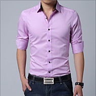 Veći konfekcijski brojevi Majica Muškarci Dnevno Rad Pamuk Jednobojni Klasični ovratnik