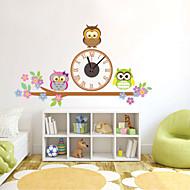 コンテンポラリー 動物 キャラクター 抽象風 結婚式 家族 友達 壁時計,ノベルティ柄 プラスチック その他 屋内/屋外 クロック