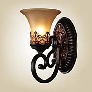 ecolight® lâmpadas de parede do vintage uma luz com material de resina de vidro sombra cama sala sala corredor luzes