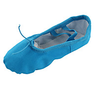 cheap Ballet Shoes-Women's Belly Ballet Yoga Gymnastics Canvas Flat Indoor Flat Heel Blue Non Customizable