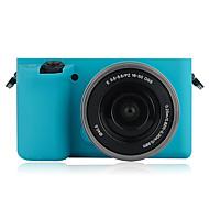 olcso -dengpin® divatos puha szilikon páncél bőr gumi fényképezőgép tok táska Sony Alpha ilce-6000l A6000 (vegyes színek)
