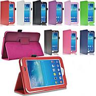 のために Samsung Galaxy ケース スタンド付き / フリップ ケース フルボディー ケース ソリッドカラー PUレザー Samsung Tab 3 10.1 / Tab 3 7.0