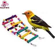 鳥 とまり木&はしご プラスチック ウッド マルチカラー