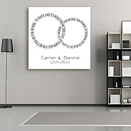 E-HOME® Personalized Signature Canvas Frame-Circle Of Letters