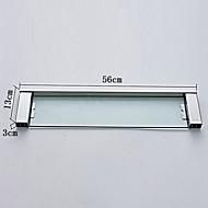 お買い得  ステンレス Series-浴室棚 コンテンポラリー ステンレス鋼 ガラス 1枚 - ホテルバス
