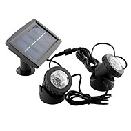 baratos Focos-1 pc spotlight à prova d 'água alimentado por energia solar 2x6 led light outdoor path path lamp