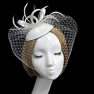 Women Satin/Net Simple Hats/Birdcage Veils With Wedding/Party Headpiece(More Colors)