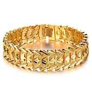 Cadeia chapeada de ouro 18k para homem / mulher com estilo elegante de pulseira de pedra