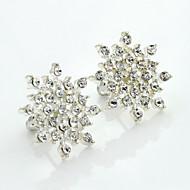 Γυναικεία Κρυστάλλινο Κουμπωτά Σκουλαρίκια - 18Κ Επίχρυσο Στρας Επιχρυσωμένο κυρίες Ευρωπαϊκό Μοντέρνα Κοσμήματα Ασημί Για / Προσομειωμένο διαμάντι / Αυστριακό κρύσταλλο