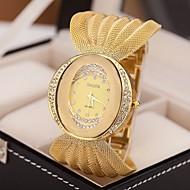 לנשים שעוני שמלה שעוני אופנה קווארץ חיקוי יהלום סגסוגת להקה מדבקות עם נצנצים כסף חום זהב כסף מוזהב חום-זהב