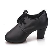 """billige Moderne sko-Dame Moderne Syntetisk Høye hæler Innendørs Profesjonell Nybegynner Trening Snøring Tykk hæl Svart Under 1 """" Kan ikke spesialtilpasses"""