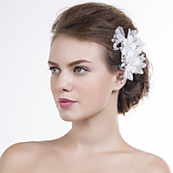 billiga Brudhuvudbonader-Organza Blommor 1 Bröllop Speciellt Tillfälle Hårbonad
