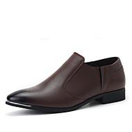 Bărbați Pantofi Piele Primăvară Toamnă Confortabili Pantofi formale Cizme Pentru Casual Negru Vișiniu