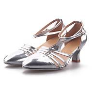 cheap -Women's Modern Shoes / Ballroom Shoes Paillette / Synthetic / Leatherette High Heel Indoor / Practice / Beginner Buckle Cuban Heel Non