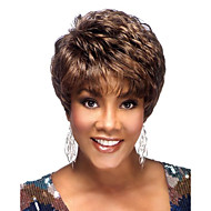 Capless 100% Human Hair Wig Super Natural Short Straight Brown with Auburn Mix Human Hair Wigs
