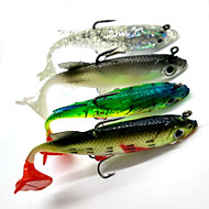 cheap Fishing-4 pcs Soft Bait Fishing Lures Soft Jerkbaits Shad Soft Bait Soft Plastic Sea Fishing Spinning Freshwater Fishing Bass Fishing