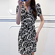 女性用 シック・モダン ルーズ ドレス - モダンスタイル, プリント ファッション