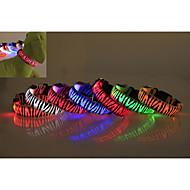 ieftine Câini-Câine Gulere Lumini LED Impermeabil Zebră Nailon Galben Rosu Verde Albastru Roz