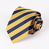 férfi párt / esti sárga és sötétkék csíkos nyakkendő # pt065