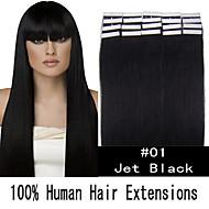 16 inch remy 30g / set huid tape haar Maleisische human hair extensions 19 kleuren voor vrouwen schoonheid