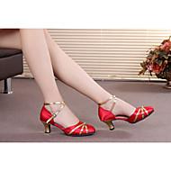 billige Moderne sko-Dame Moderne sko / Ballett Syntetisk / Sateng / Lakklær Høye hæler / Sandaler Spenne / Sløyfe / Snøring Kubansk hæl Kan ikke / Innendørs