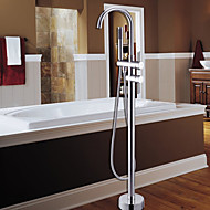 cheap Discount Faucets-Bathtub Faucet - Contemporary Chrome Tub And Shower Ceramic Valve