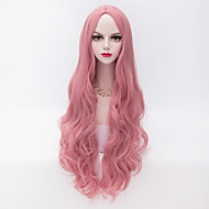 80cm long loose wavy u part hair pink heat resistant synthetic fashion party wig