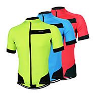 Arsuxeo Camisa para Ciclismo Homens Manga Curta Moto Camisa/Roupas Para Esporte Blusas Secagem Rápida Design Anatômico Zíper Frontal