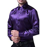 Herre - Ensfarvet Plusstørrelser Skjorte Bomuld