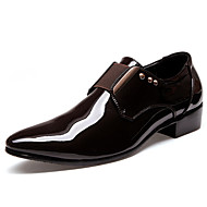 Men's Oxfords Clogs & Mules Spring Fall PU Wedding Outdoor Office & Career Casual Party & Evening Flat Heel Lace-up  Brown/Black