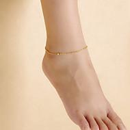 저렴한 -패션 여성의 해변 요가 댄스 간단한 매트 구슬 체인 발찌