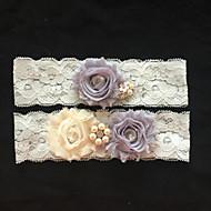 levne -Krajka Svatební ošacení - Štras Imitace perel Květiny