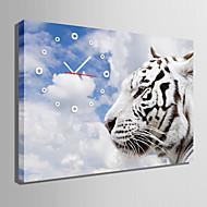 Rektangulær Moderne / Nutidig Wall Clock , Andre Lerret35x50cm(14inchx20inch)x1pcs/40x60cm(16inchx24inch)x1pcs/