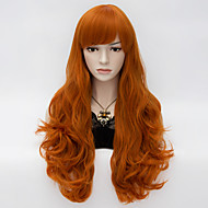 Loita Long Wavy Hair Cosplay Wigs  Heat Resist Synthetic Party hair Orange